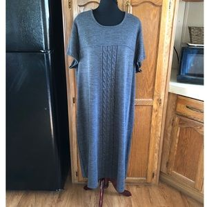 Lane Bryant Grey Sweater Dress Size 26/28